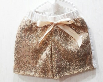 Gold sequin shorts, girls sequin shorts, sequin shorts, sparkle shorts, glitter shorts, sequin bottom, girls shorts, birthday outfit