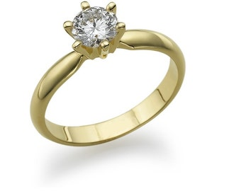 gold ring with diamond 0.50 CT