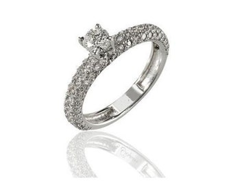 Special and beautiful ring is set with 68 diamonds, not stop you looking!