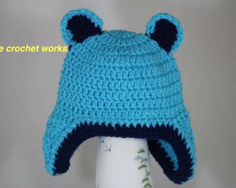 Crochet baby boy hat and diaper cover, boy Bear hat,Newborn hat&diaper cover, Diaper cover handmade, newborn to 12 months size,photo prop