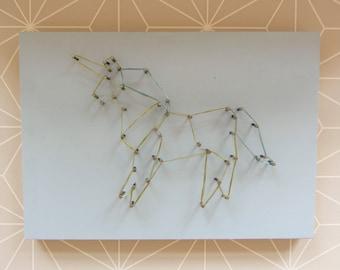Nail picture Unicorn/unicorn/magic/wall decoration / present