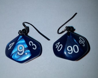 Pearlized 10 Sided Percentile Dice Earrings