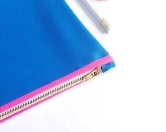 Medium Cobalt Blue Leatherette Bag