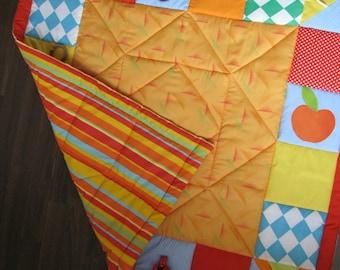Baby blanket, baby blanket, patchwork baby blanket,
