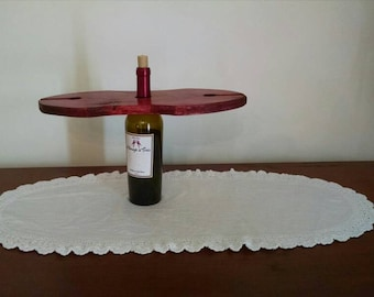 Two glass Wine bottle display