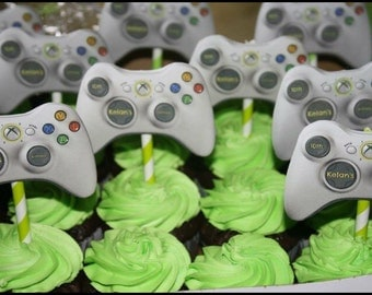 Video Game cupcake toppers