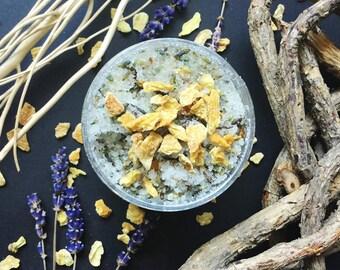 Zitrone und Lavendel Zucker Peeling, Vegan, Grausamkeit freie Schönheit, alle natürlichen Bad