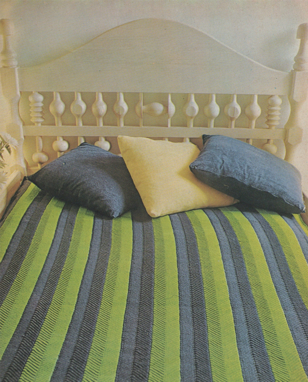 Bedspread cover pdf crochet pattern chevron stitch for Studio one bed cover