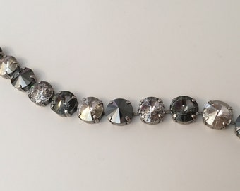 Shades of Gray Swarovski Crystal Bracelet