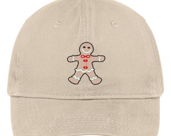 GINGERBREAD COOKIE Embroidered Christmas Themed Cotton Baseball Cap - 5 Colors! (LOG296-SAN-CP77)