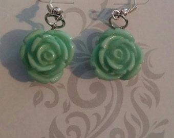 Jade colored rose
