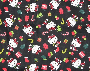 Christmas Hello Kitty Fabric by the yard