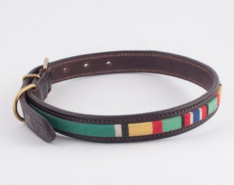 Leather Dog Collar in English Bridle Leather