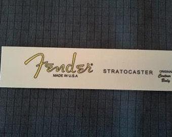 Custom Waterslide for Fender Stratocaster  - Yellow later model year