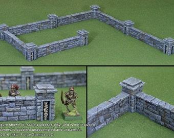 GRAVEYARD WALLS (6 Walls, 7 Posts)