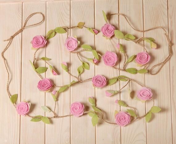Blumengirlande Mädchen Kinderzimmer Dekor von HomeHarmonyCreators