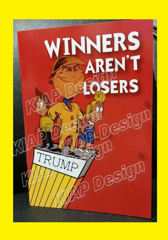 Book Cover Design Winners : New winners aren t losers donald trump children s by