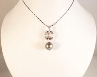 Diamond and Pearl Pendant