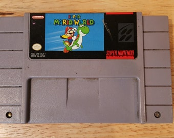 Super Mario World SNES ! Super Nintendo Entertainment System! Classic Game