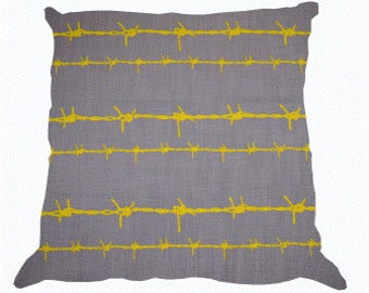 FENCE Yellow Scatter Cushion Cover