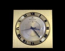 Jaeger Lecoultre Memovox travel alarm clock 1960's vintage travel clock. Artifacts, luxury, Swiss made watch