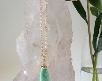 Wire-wrapped Amazonite Necklace