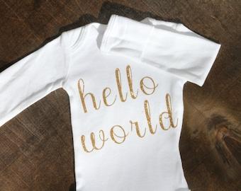 Hello World Baby Bodysuit One Piece