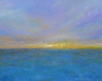Abstract Expressionism Oil Painting Seascape Sunset