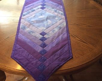 Purple table runner