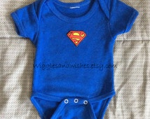 Superman onesie, newborn to 18 months, reborn