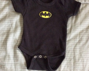 Batman onesie, newborn to 18 month sizes, reborn
