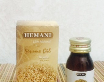 Sesame Seed Oil 30ml The Queen of oils, and rich in vitamins 100% Natural