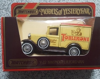 10% New Year discount Set of 3 Models of Yesteryear Y22 - Model A ford Van's 1930's