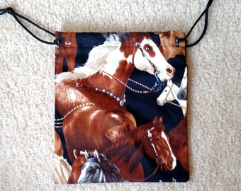 Various Size Drawstring Horse Bags