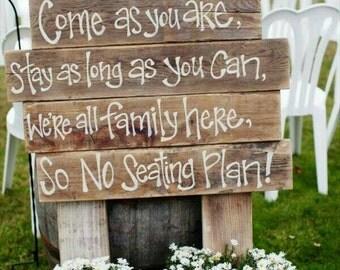 Wood work signs