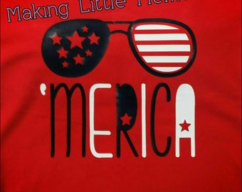July 4th Tshirt, 'Merica with shades