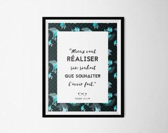 Poster - Woody Allen quote