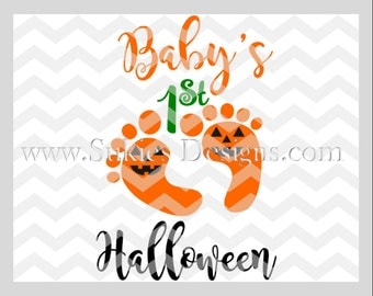 Baby's First Halloween SVG File For Cricut and Cameo DXF for Silhouette Studio Cutting File Halloween svg, Girl svg, 1st Halloween svg