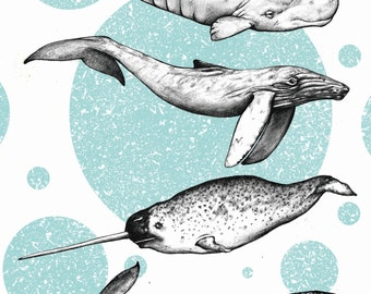 A5 Whale 'Go Your Own Way' Print