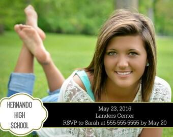 Custom Graduation Invitation or Announcement! Personalized for your grad!