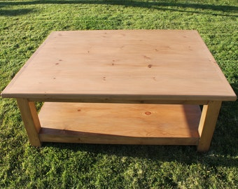 Hand Made Pine Coffee Table