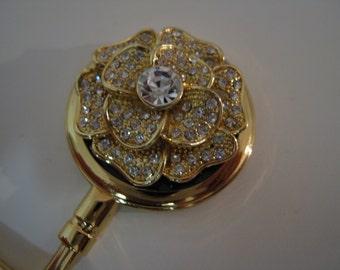 Gold Rose - Unfold a Trapeze Purse Hook