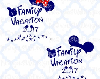 Disney Family Vacation 2017 SVG,EPS,PNG,Studio
