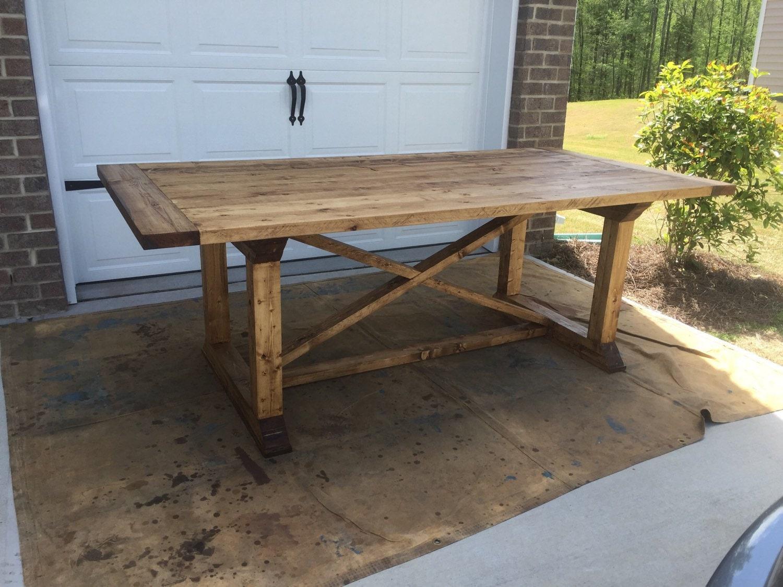 Custom Farmhouse Table by CharmingFarmhouseCo on Etsy