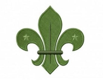 Boy Scout Badge Embroidery Design Stitch & Applique Instant Download