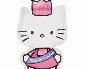 FAST SHIP Jumbo Hello Kitty Princess Birthday Balloons, Hello Kitty Party Balloons, Hello Kitty Mylar Balloons, Hello Kitty Party Supplies
