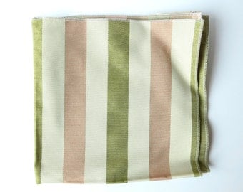 Upholstery Sample in Pink and Green Stripe
