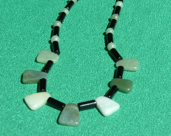 green serpentine necklace
