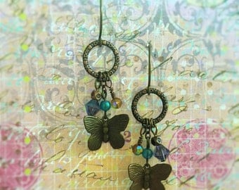 Vintage Butterfly Earrings