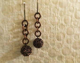 Tangled Copper Dangles